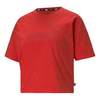 Puma Essential Cropped Womens Crew Neck Short Sleeve T-Shirt Plus
