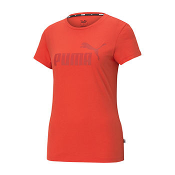 Puma Essential Logo Womens Crew Neck Short Sleeve T-Shirt Plus