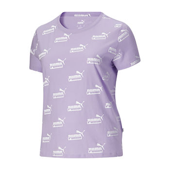 Puma Amplified Aop Tee Plus Womens Crew Neck Short Sleeve T-Shirt Plus
