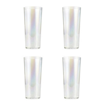 Outdoor Oasis 4-pc. Iridescent Highball Glasses