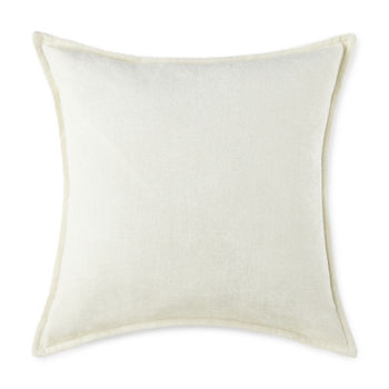 Liz Claiborne Solid Chenille Square Throw Pillow