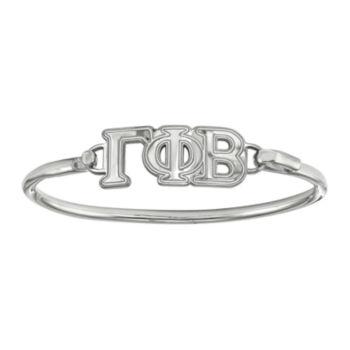 Fine Jewelry Delta Phi Epsilon Enameled Sterling Silver Oval Leather Bracelet