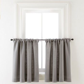 24 Inch Gray Kitchen Curtains For Window