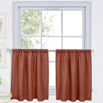 Window Tiers Red Curtain Panels For