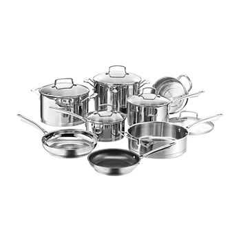 Cuisinart Professional Series Stainless 13-pc. Stainless Steel Dishwasher Safe Cookware Set