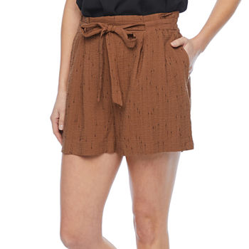 Worthington Womens High Rise Pull-On Short
