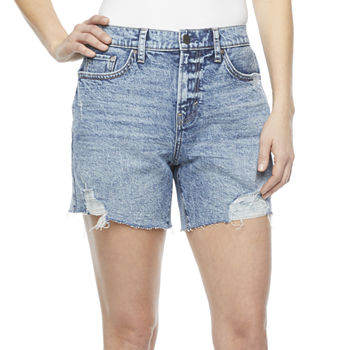"a.n.a Womens High Rise 5"" Denim Boyfriend Short"