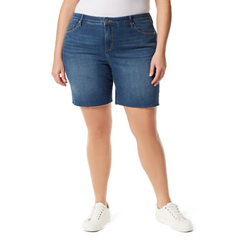 "Gloria Vanderbilt City Womens High Rise 5"" Denim Short-Plus"
