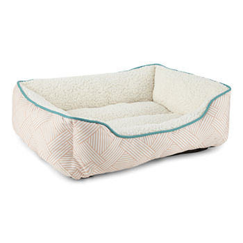 Paw And Tail Geometric Pet Bed
