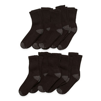 Xersion Little & Big Boys 10 Pair Crew Socks