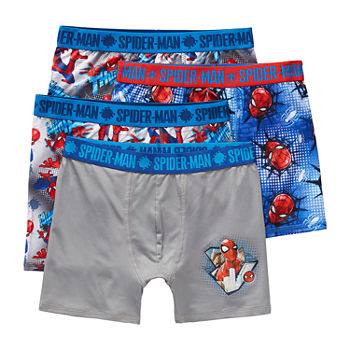 Spiderman Big Kid Boys 4 Pair Boxer Briefs