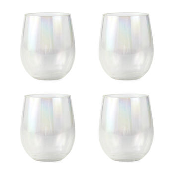 Outdoor Oasis 4-pc. Iridescent Stemless Wine Glass