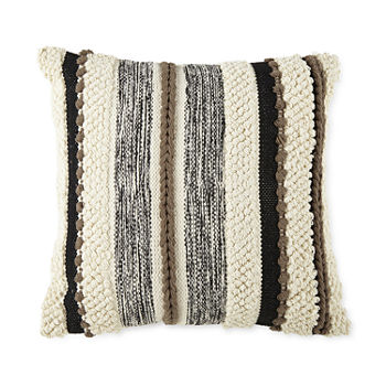 Linden Street Nubby Stripe Square Throw Pillow