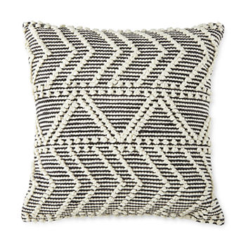 Linden Street Nubby Chevron Square Throw Pillow