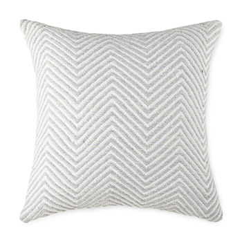 Linden Street Chevron Space Dye Square Throw Pillow