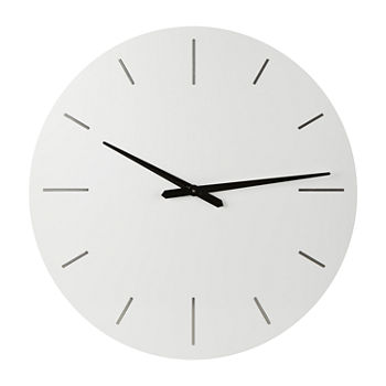 "Loom + Forge Modern White 30"" Wall Clock"