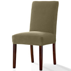 SURE FITR Stretch Piqu Dining 1 Pc Chair Slipcover