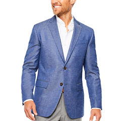JF J. Ferrar Blue Chambray Sport Coat- Slim