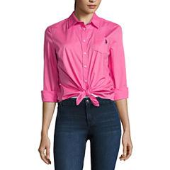 U.S. Polo Assn. Long Sleeve Button-Front Shirt-Juniors