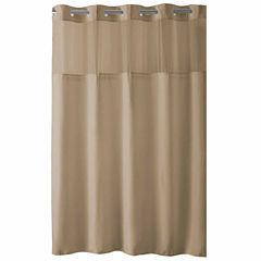 Hookless High Point Linen Shower Curtain