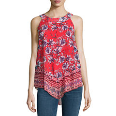 Alyx Sleeveless Round Neck Chiffon Floral Blouse
