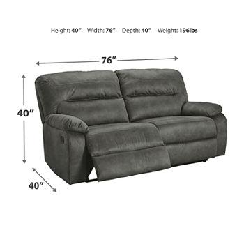 Pleasing Signature Design By Ashley Bolzano Pad Arm Reclining Sofa Machost Co Dining Chair Design Ideas Machostcouk