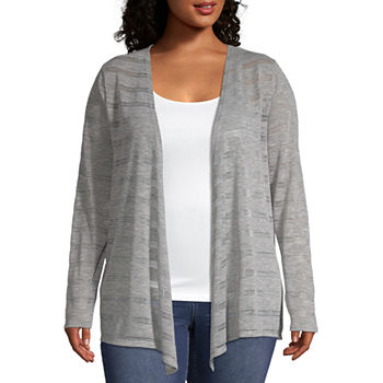 698baeef282 Plus Size Sweaters   Cardigans for Women - JCPenney