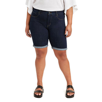 "Levi's Shaping Womens Mid Rise Stretch 10"" Bermuda Short-Plus"
