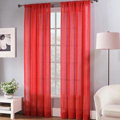 Fiesta® Rod-Pocket Sheer Curtain Panel