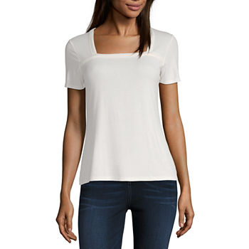 63e7a836 Square Neck T-shirts Tops for Women - JCPenney