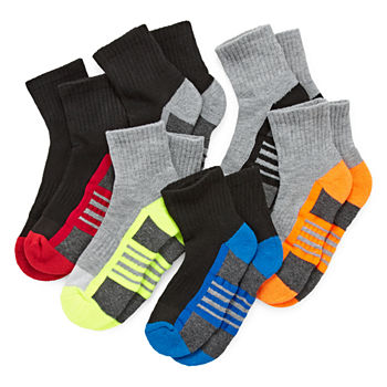 Xersion Little & Big Boys 6 Pair Quarter Socks