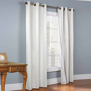 Weathermate Energy Saving Blackout Grommet-Top Set of 2 Curtain Panel