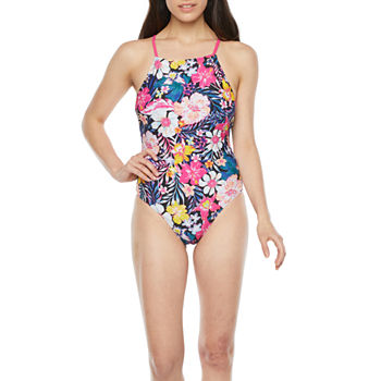 Decree Womens One Piece Swimsuit Juniors