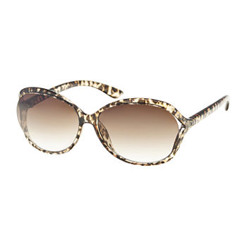 Mixit Oval Vented Plastic Womens Sunglasses
