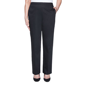 Alfred Dunner Zanzibar-Petite Womens Straight Pull-On Pants