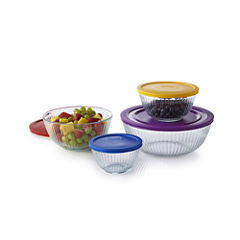 Pyrex® 8-pc. Sculptured Mixing Bowl Set
