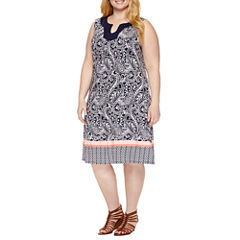 St. John's Bay Sleeveless Sundress-Plus