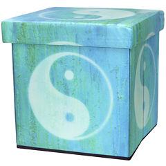 Oriental Furniture Yin Yang Footstool
