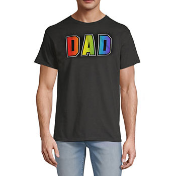 Dad Mens Crew Neck Short Sleeve Graphic T-Shirt