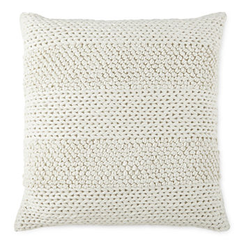 Linden Street Nubby Textured Square Throw Pillow