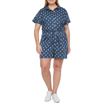 a.n.a Short Sleeve Romper-Plus