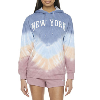 Juniors Cut & Paste New York Tie-Dye Hoodie or Jogger Short