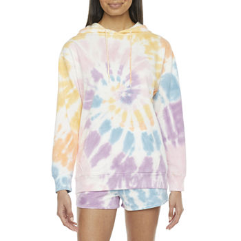 Juniors Cut & Paste Good Vibes Tie-Dye Hoodie or Jogger Short