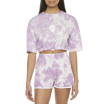Juniors Cut & Paste Celestial Bungee Tee or Dolphin Short