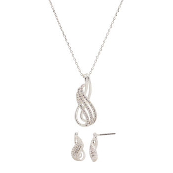 Sparkle Allure 3-pc. Cubic Zirconia Pure Silver Over Brass Infinity Jewelry Set