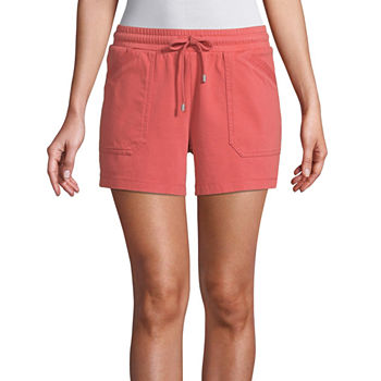 St. John's Bay Womens Mid Rise Pull-On Short