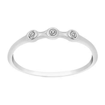 Itsy Bitsy Crystal Sterling Silver Band