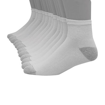 Hanes Ultimate Mens 10 Pair Low Cut Socks