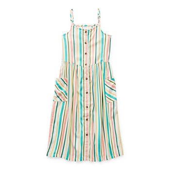 Arizona Little & Big Girls Sleeveless Shirt Dress