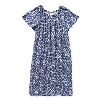 Arizona Little & Big Girls Short Sleeve Peasant Dress